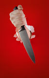 Knife in the hand Royalty Free Stock Images