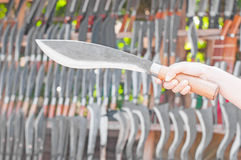 Knife in a hand Royalty Free Stock Image