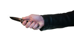 Knife in hand Royalty Free Stock Photography