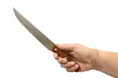 Knife in hand Stock Image