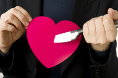 A knife through the heart! Royalty Free Stock Image