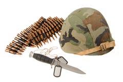 Knife helmet bullet token Stock Photos