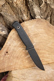 Knife the hunting black Royalty Free Stock Photo