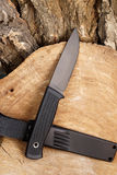 Knife the hunting black Royalty Free Stock Images