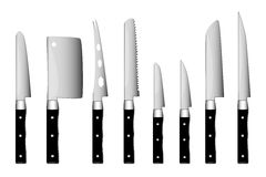 Knife. Kitchen white silverware vector cut knife vector illustration