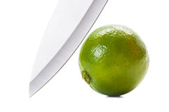 Knife and lime Stock Photography