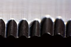 Knife in macro detail Stock Photography