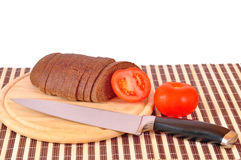 Knife mad bread Stock Image
