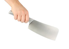 Knife for meat in hand Royalty Free Stock Photos