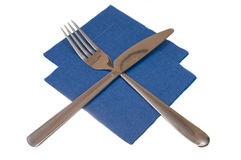 Knife a napkin fork Stock Photography