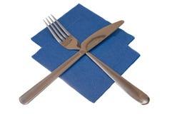 Knife a napkin fork Stock Photography