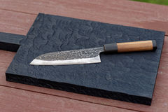 Knife On A Cutting Board Stock Photography