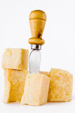 Knife and parmesan Royalty Free Stock Photos