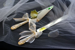 Knife and server stock image