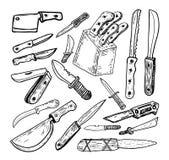 Knife set, vector illustration. Stock Photography