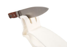 Knife sharpener with copy space Stock Image