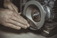 Knife Sharpener Royalty Free Stock Photography