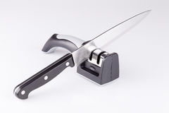 Knife and sharpener Royalty Free Stock Image