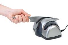 Knife sharpening Royalty Free Stock Image