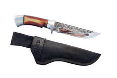 Knife and sheath Stock Images