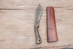 Knife and sheath knife Stock Photo