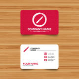 Knife sign icon. Edged weapons symbol. Business card template with texture. Knife sign icon. Edged weapons symbol. Stab or cut. Hunting equipment. Phone, web Royalty Free Stock Photo