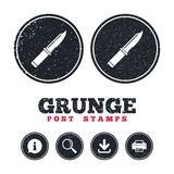 Knife sign icon. Edged weapons symbol. Stock Photography