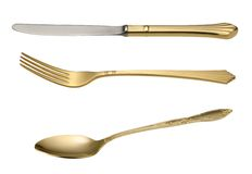 Knife Spoon and Fork. Royalty Free Stock Photography