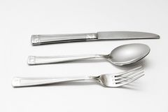 Knife, Spoon, Fork Stock Photography