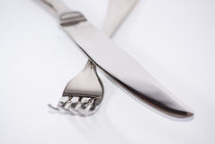 Knife and spoon Royalty Free Stock Images