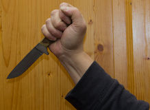 Knife, stabbing weapon, violence, xenophobia, fear, thrust, to s Royalty Free Stock Images