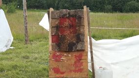 Knife Throwing, tournament stock video footage