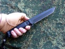 Knife the tourist black Royalty Free Stock Photos