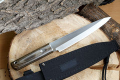 Knife tourist fillet for thin cutting Stock Photography