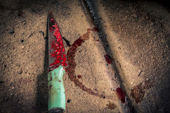 Knife used for slaughterhouse. In Thailand stock image