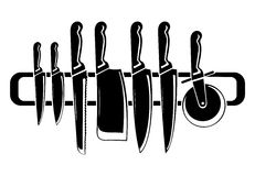 Knife vector. The images of knife. A vector illustration Stock Photography