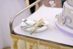 Knife for Wedding Cake Stock Photos