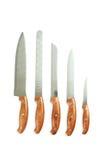 Knifes da cozinha Foto de Stock Royalty Free