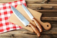 Knifes da cozinha Fotografia de Stock Royalty Free