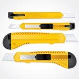 Knifes de papel Imagenes de archivo