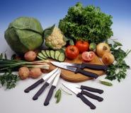 Knifes della cucina Immagine Stock