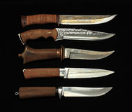 Knifes hunting Royalty Free Stock Images