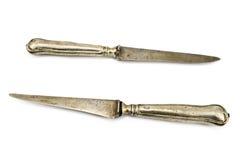 knifes stołu dwa rocznik Obrazy Stock