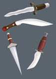 Knifes swords daggers Royalty Free Stock Photography