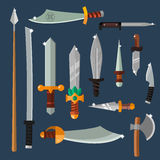 Knifes weapon vector collection Stock Images
