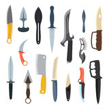 Knifes weapon vector illustration. Royalty Free Stock Image