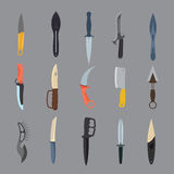Knifes weapon vector illustration. Stock Photos