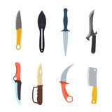 Knifes weapon vector illustration. Stock Images