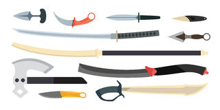 Knifes weapon vector illustration. Royalty Free Stock Photography