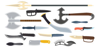Knifes weapon vector illustration. Royalty Free Stock Photos